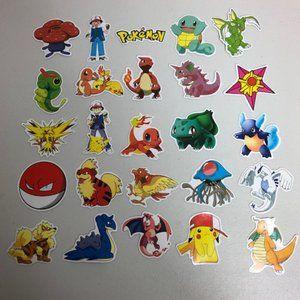 25 Pokemon Waterproof Stickers Decals Skateboard